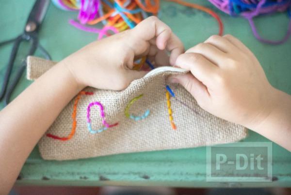 รูป 5 ตกแต่งถุงใส่ดินสอ ลายสวย เป็นของที่ระลึก