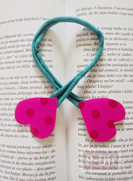 ทำที่คั่นหนังสือ สวยๆ รูปหัวใจ