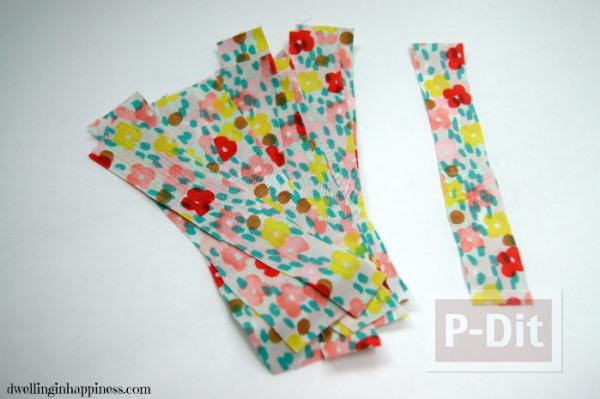 รูป 4 แจกันดอกไม้ ลายสวย ด้วยผ้า