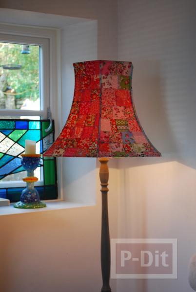 รูป 2 โคมไฟสวยๆ ตกแต่งจากผ้าหลากสีสัน