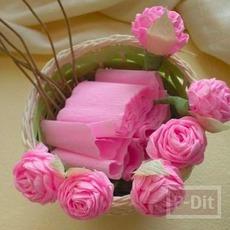 สอนทำดอกไม้ จากกระดาษย่น