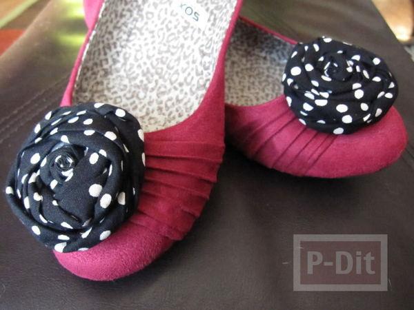 เปลี่ยนดอกรองเท้าคัชชู สีใหม่ สดใส