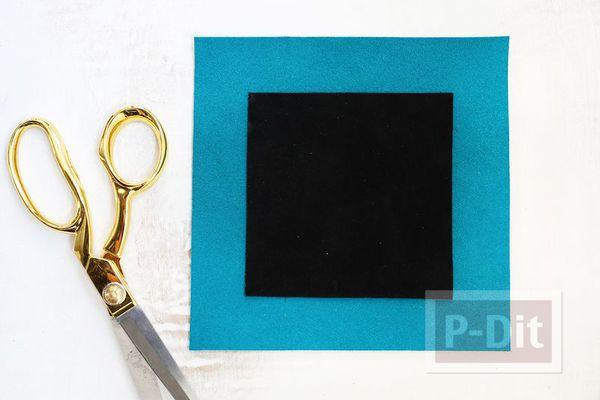 รูป 3 สอนทำที่ใส่ของกระจุกกระจิก จากผ้าสักกะหลาด