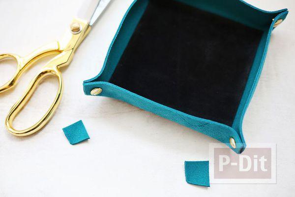 รูป 6 สอนทำที่ใส่ของกระจุกกระจิก จากผ้าสักกะหลาด
