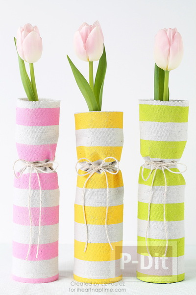 รูป 1 ไอเดียทำที่หุ้มแจกัน จากผ้าสีสวย