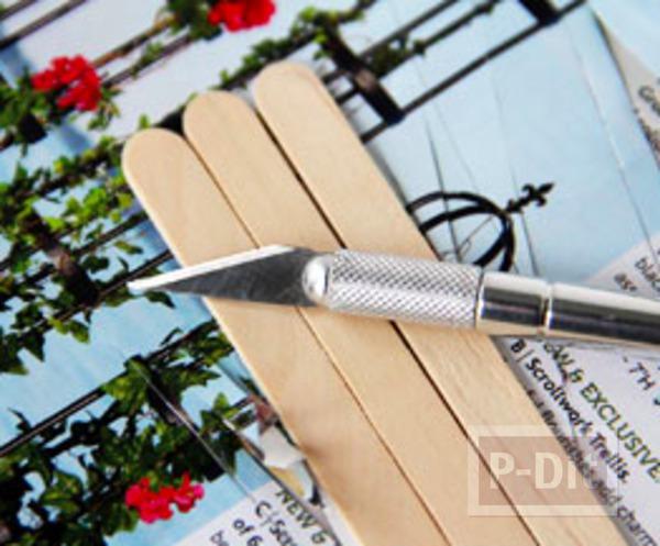 รูป 4 ของขวัญ ทำจากไม้ไอติม รูปถ่ายพร้อมข้อความ