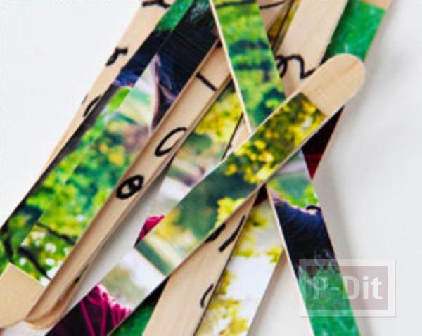 รูป 5 ของขวัญ ทำจากไม้ไอติม รูปถ่ายพร้อมข้อความ