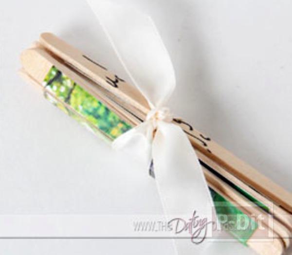 รูป 7 ของขวัญ ทำจากไม้ไอติม รูปถ่ายพร้อมข้อความ