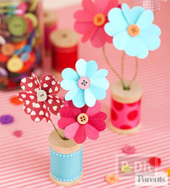 ดอกไม้กระดาษ รูปหัวใจ สวยๆ