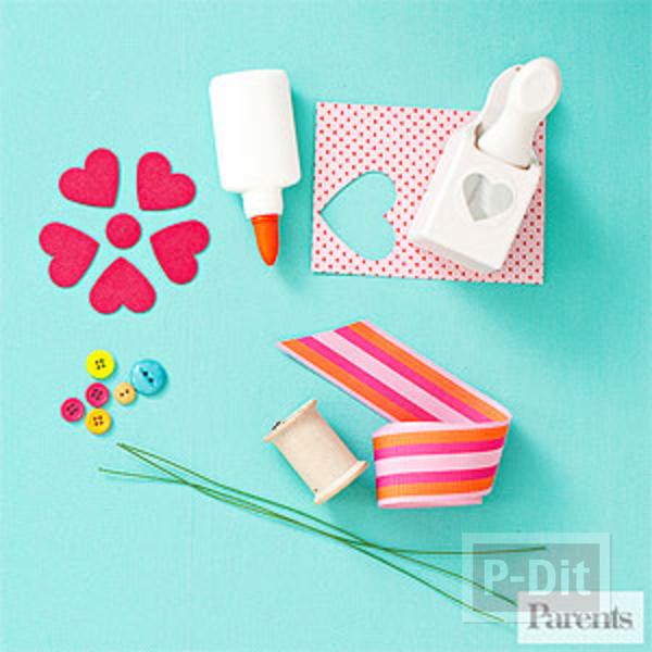 รูป 2 ดอกไม้กระดาษ รูปหัวใจ สวยๆ