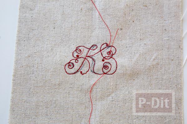 รูป 3 พวงกุญแจ ทำจากผ้า ลายสวย