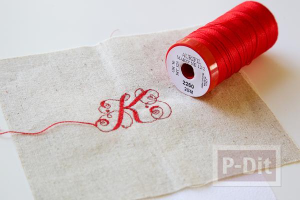 รูป 4 พวงกุญแจ ทำจากผ้า ลายสวย