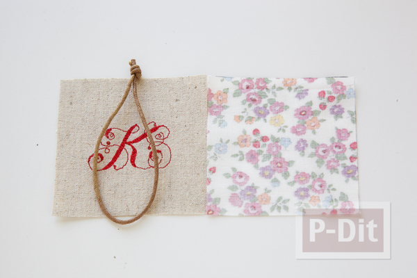 รูป 5 พวงกุญแจ ทำจากผ้า ลายสวย