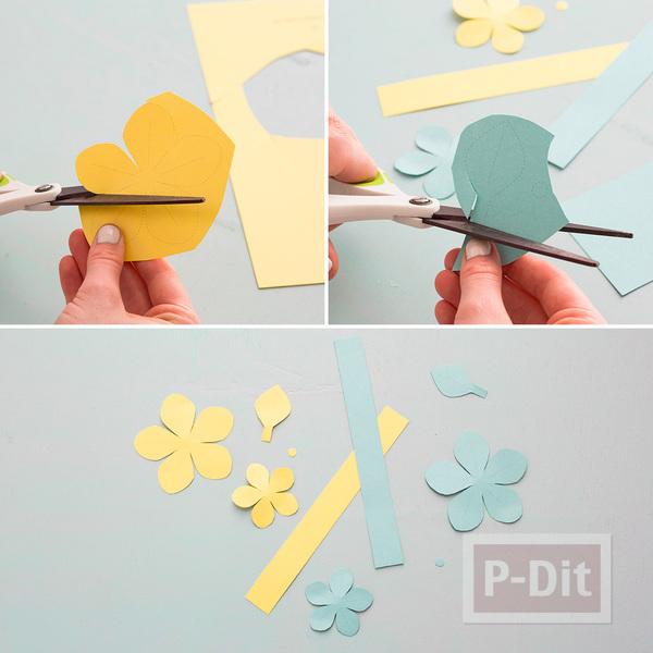 รูป 5 สอนทำรัดช้อนส้อม ด้วยกระดาษลายสวย รูปดอกไม้
