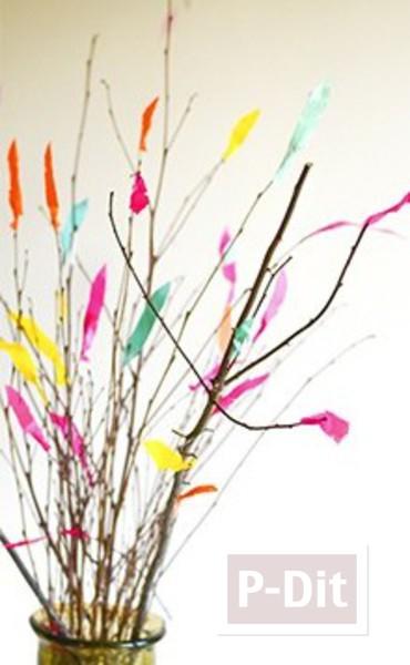 รูป 2 แจกันประดับดอกไม้ ทำจากสก็อตเทปสีสด
