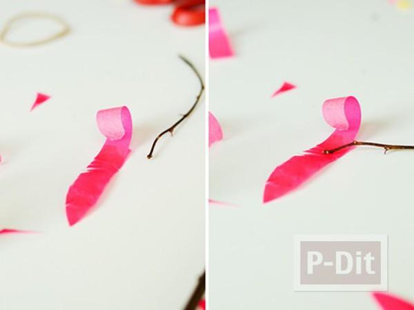 รูป 4 แจกันประดับดอกไม้ ทำจากสก็อตเทปสีสด