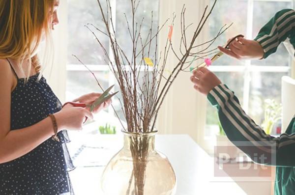 รูป 5 แจกันประดับดอกไม้ ทำจากสก็อตเทปสีสด