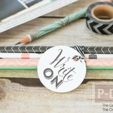 กล่องดินสอสวยๆ ประดับลาย ตกแต่งลายดิสอ