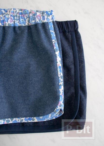 รูป 4 เย็บกางเกงสวยๆ ขลิบลายดอก