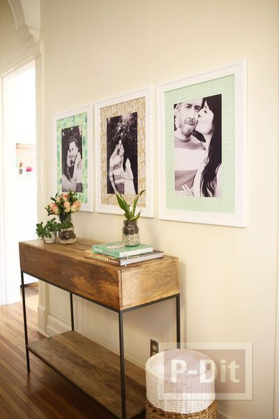 รูป 2 กรอบรูปติดผนังสวย ตกแต่งจากกระดาษระบายสีสวย