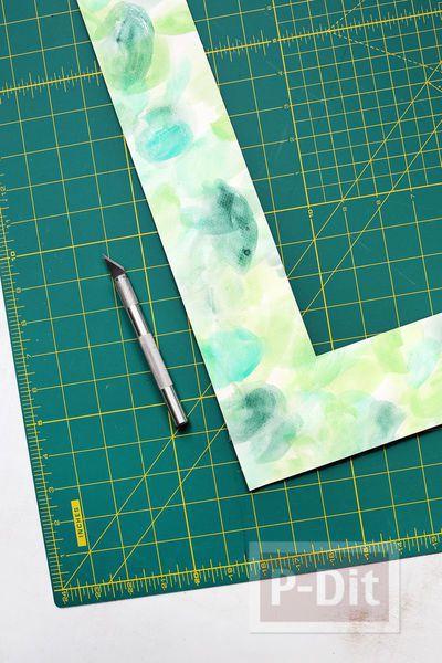 รูป 5 กรอบรูปติดผนังสวย ตกแต่งจากกระดาษระบายสีสวย