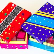 ตกแต่งกล่องกระดาษสวยๆ เป็นของขวัญเก๋ๆ