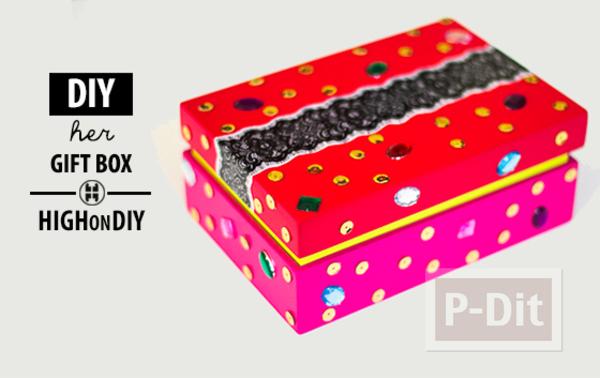 รูป 2 ตกแต่งกล่องกระดาษสวยๆ เป็นของขวัญเก๋ๆ