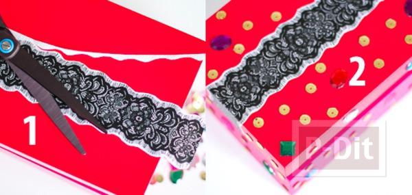 รูป 6 ตกแต่งกล่องกระดาษสวยๆ เป็นของขวัญเก๋ๆ