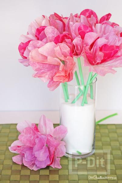 ดอกไม้คัพเค้ก สีสวย สดใส