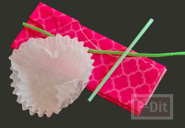 รูป 3 ดอกไม้คัพเค้ก สีสวย สดใส
