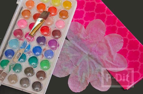 รูป 6 ดอกไม้คัพเค้ก สีสวย สดใส