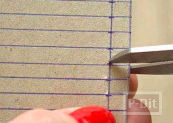 รูป 3 จานรองแก้ว ทำจากผ้ายืดสีสวย ติดกระดาษ