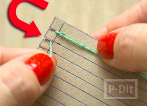 รูป 4 จานรองแก้ว ทำจากผ้ายืดสีสวย ติดกระดาษ