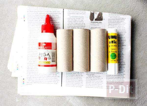 รูป 2 ทำที่ใส่ดินสอ จากแกนกระดาษทิชชู