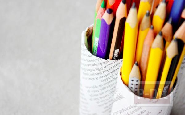 รูป 3 ทำที่ใส่ดินสอ จากแกนกระดาษทิชชู