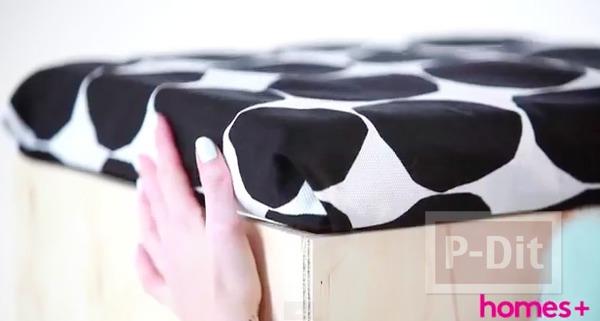 รูป 5 ตกแต่งฝากล่องเก็บของ ด้วยผ้าลายสวย