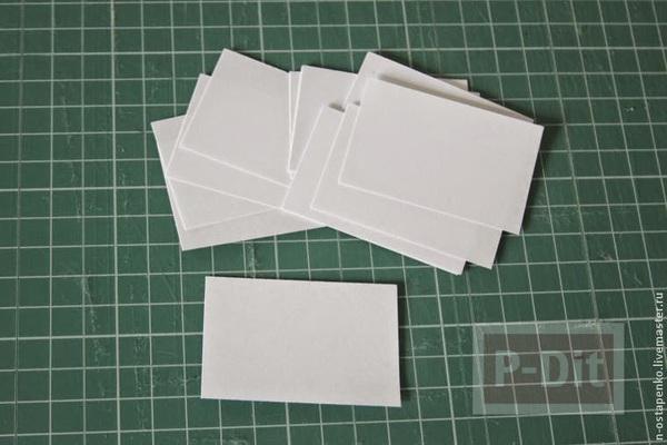 รูป 2 สมุดเล่มเล็ก ทำจากกระดาษ ห่อผ้าสีสวยผูกริบบิ้น