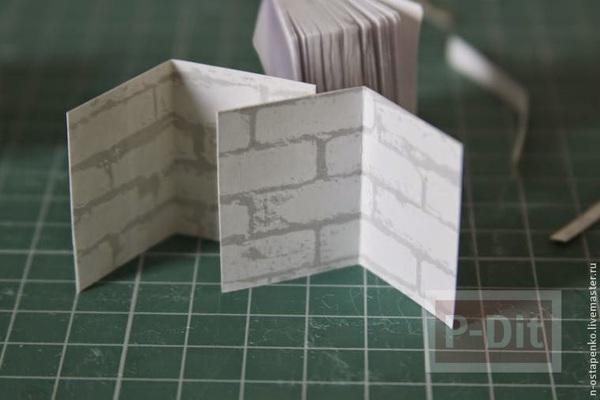 รูป 3 สมุดเล่มเล็ก ทำจากกระดาษ ห่อผ้าสีสวยผูกริบบิ้น