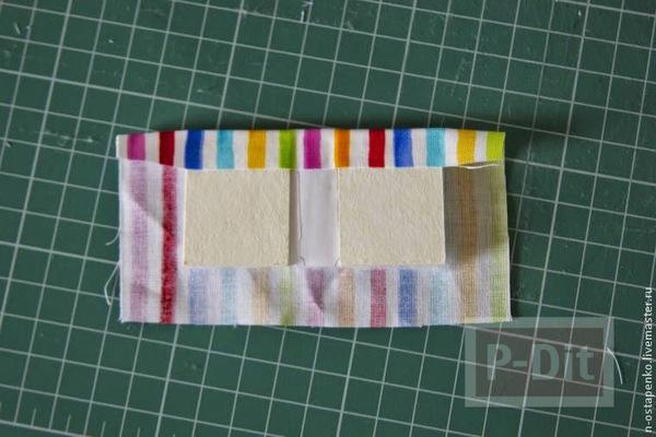รูป 6 สมุดเล่มเล็ก ทำจากกระดาษ ห่อผ้าสีสวยผูกริบบิ้น