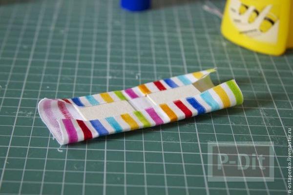 รูป 7 สมุดเล่มเล็ก ทำจากกระดาษ ห่อผ้าสีสวยผูกริบบิ้น