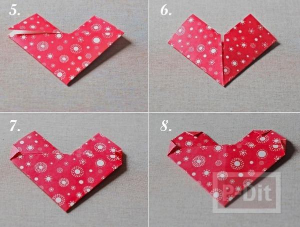 รูป 3 สอนทำที่ใช้อมยิ้ม รูปหัวใจกระดาษ