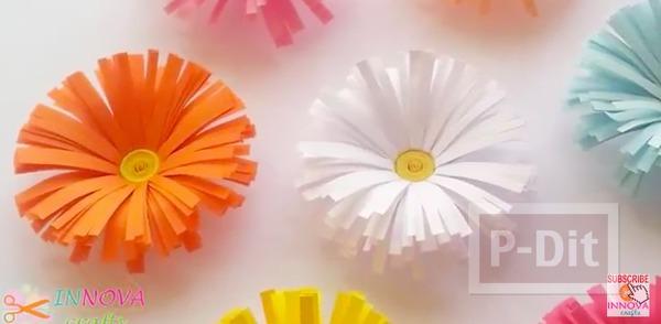 รูป 1 ดอกไม้กระดาษ ทำเอง สีสวย