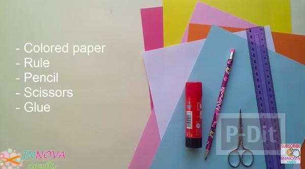 รูป 2 ดอกไม้กระดาษ ทำเอง สีสวย