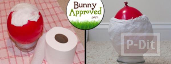 รูป 3 ของเล่นกระต่าย ทำจากกระดาษทิชชู