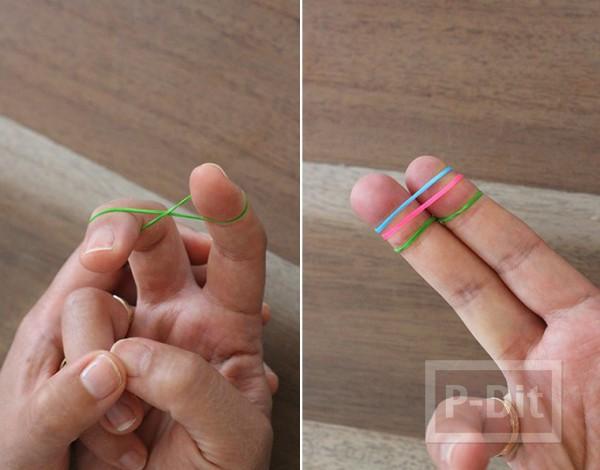 รูป 7 สร้อยข้อมือ ทำจากยางรัดเส้นเล็กๆ