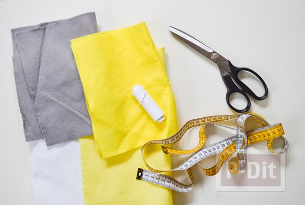 รูป 2 กระเป๋าใส่โทรศัพท์ ทำจากผ้าสักกะหลาด