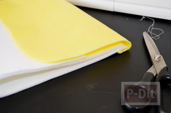 รูป 6 กระเป๋าใส่โทรศัพท์ ทำจากผ้าสักกะหลาด