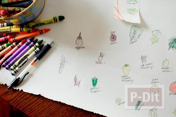 รูป 4 ป้ายชื่อแปลงผัก ประดับช้อนเก่าๆ