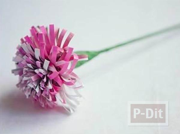 รูป 1 ดอกไม้สวยๆ ทำจากกระดาษนิตยสาร