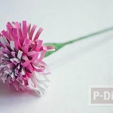 ดอกไม้สวยๆ ทำจากกระดาษนิตยสาร